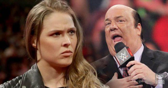 Ronda Rousey quiere trabajar con Paul Heyman