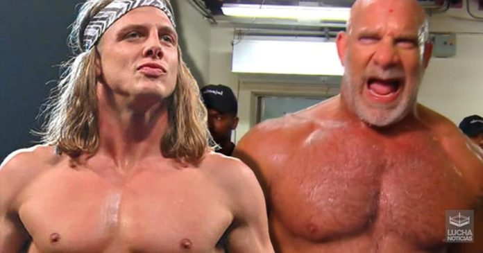 Goldberg discute con Matt Riddle