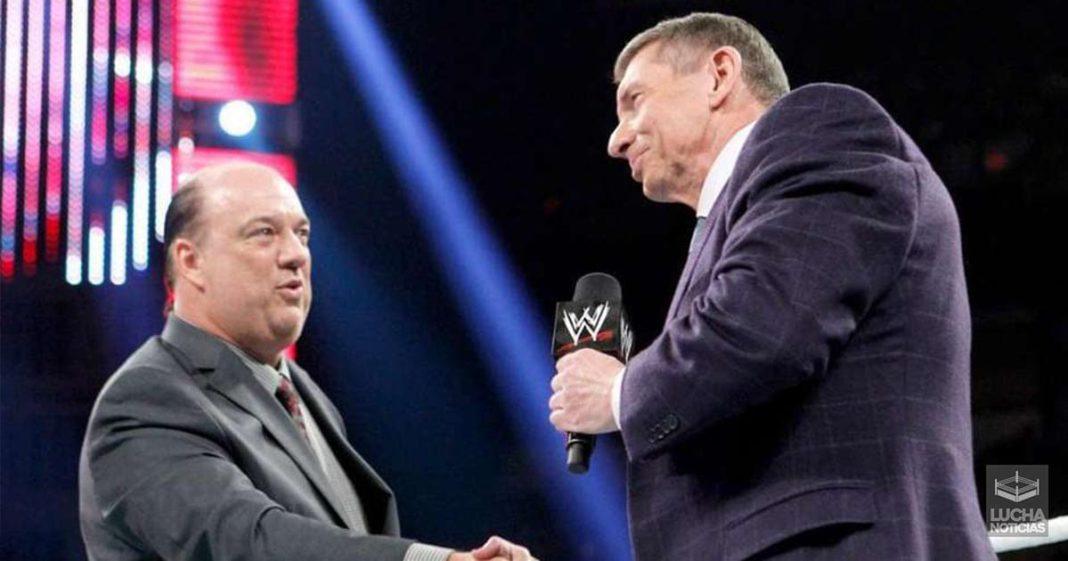 Paul Heyman tiene contento a Vince
