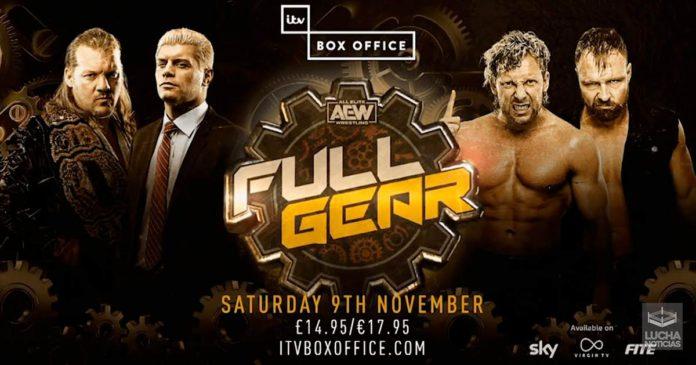 AEW Full Gear en vivo resultados 09 de noviembre