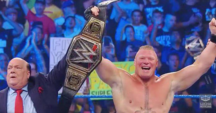 Brock Lesnar y su oponente en Royal Rumble