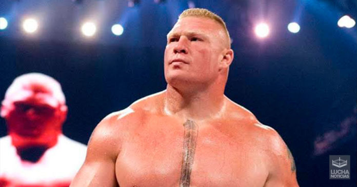 Brock Lesnar y su oponente original en Crown Jewel