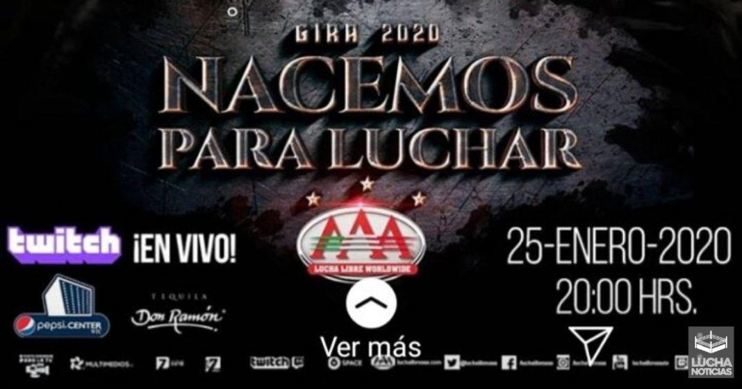 AAA Nacemos para Lucha en vivo resultados 25 de enero