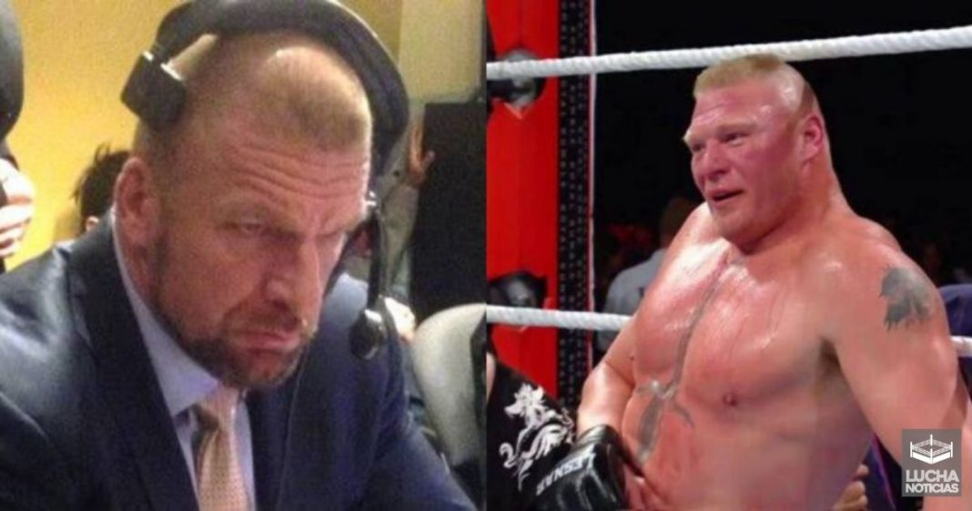 WWE le cancela importantes planes Triple H con Brock Lesnar en Royal Rumble
