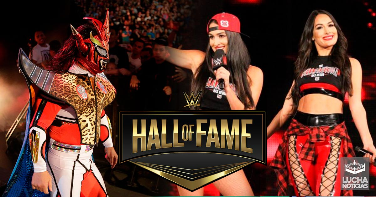 Image result for Bella Twins And Jushin Thunder Liger WWE HOF?