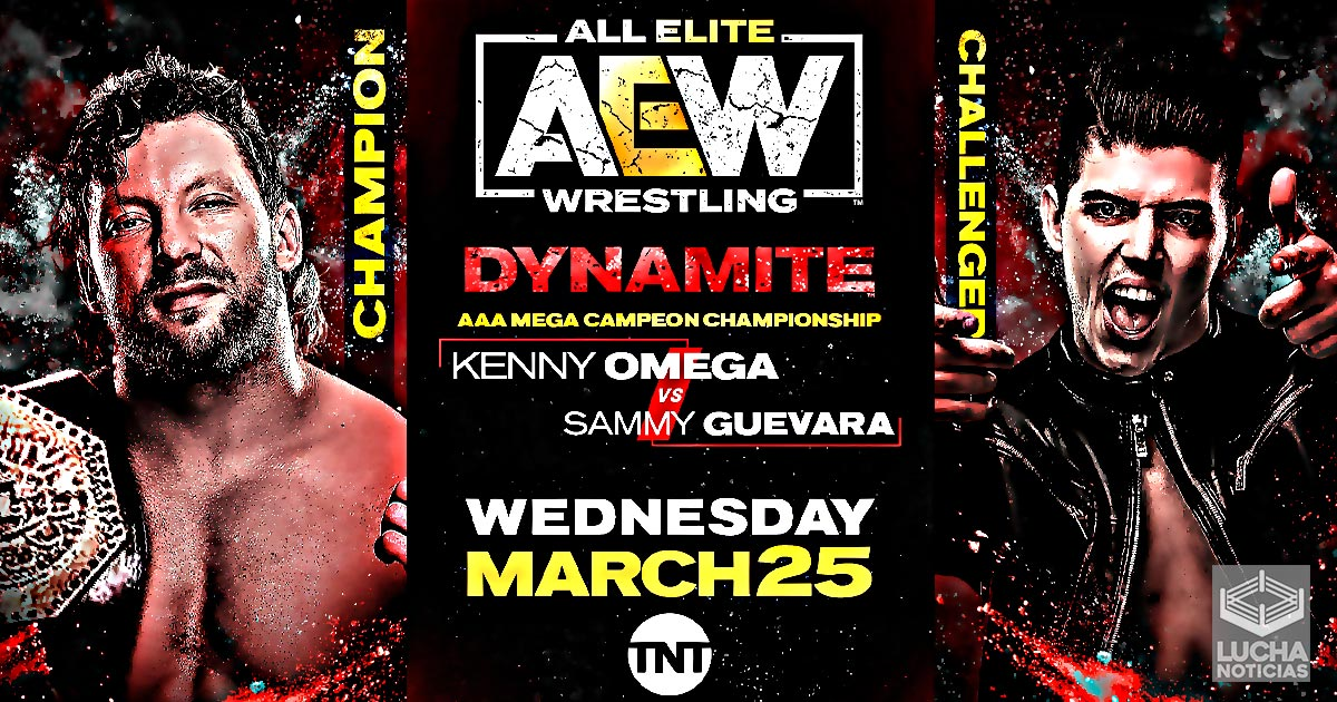 AEW Dynamiate Kenny Omega vs Sammy Guevara por el megacampeonato AAA