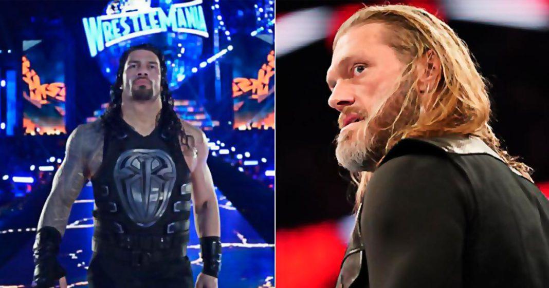 Edge amenaza a Roman Reigns antes de WrestleMania 36