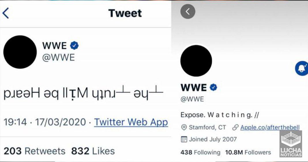 El misteriosos tweet en la cuenta de WWE