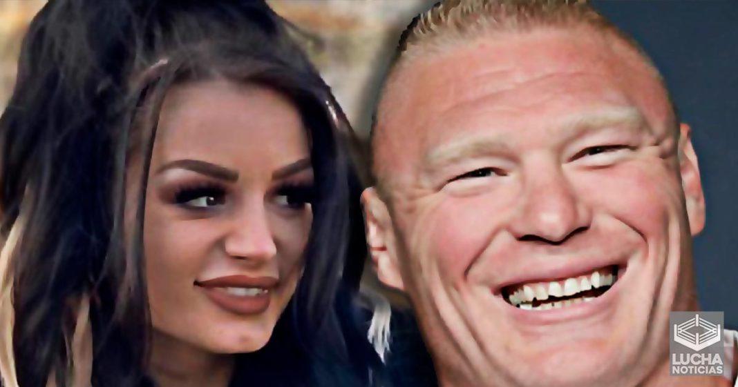 Paige dice que Brock Lesnar es una persona muy dulce