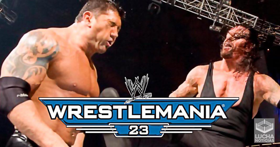 WrestleMania 23 Undertaker vs Batista lucha completa