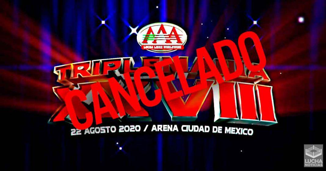 AAA TripleMania 28 es cancelado