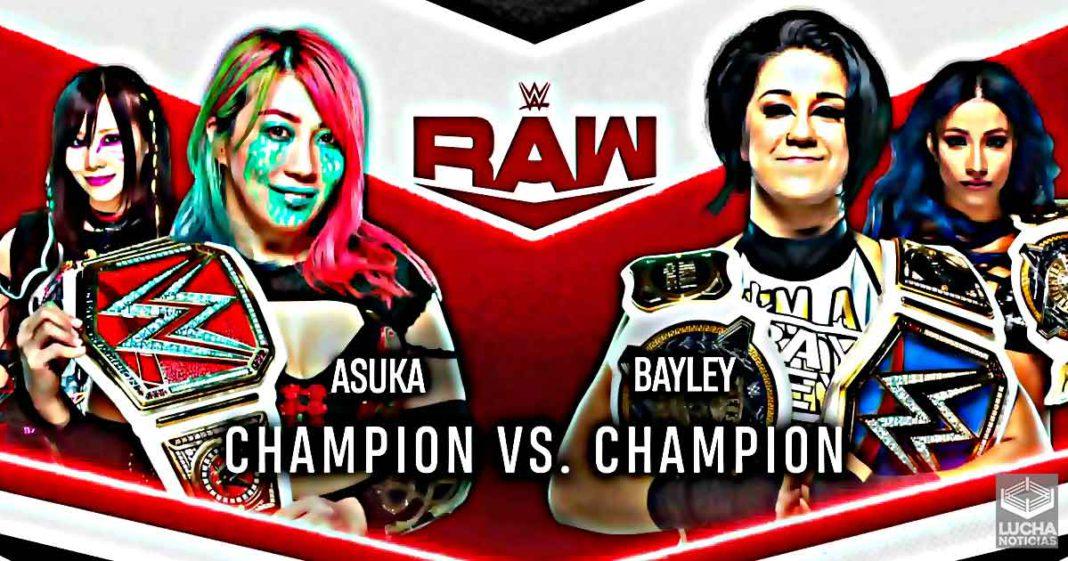 Bayley vs Asuka campeoan vs campeona en WWE RAW el 7 de julio
