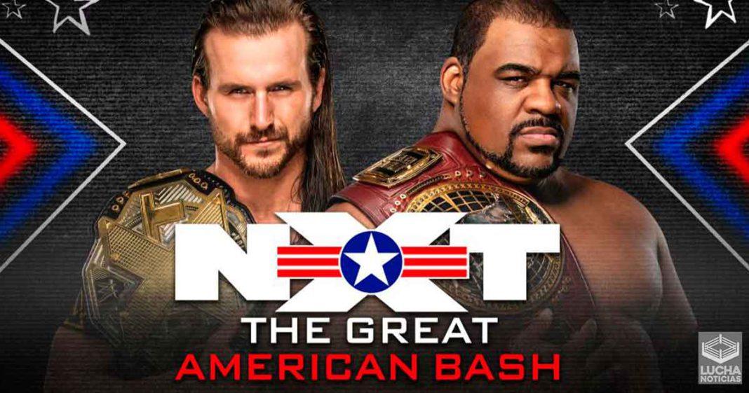 WWE NXT The Great American Bash resultados 08 de julio
