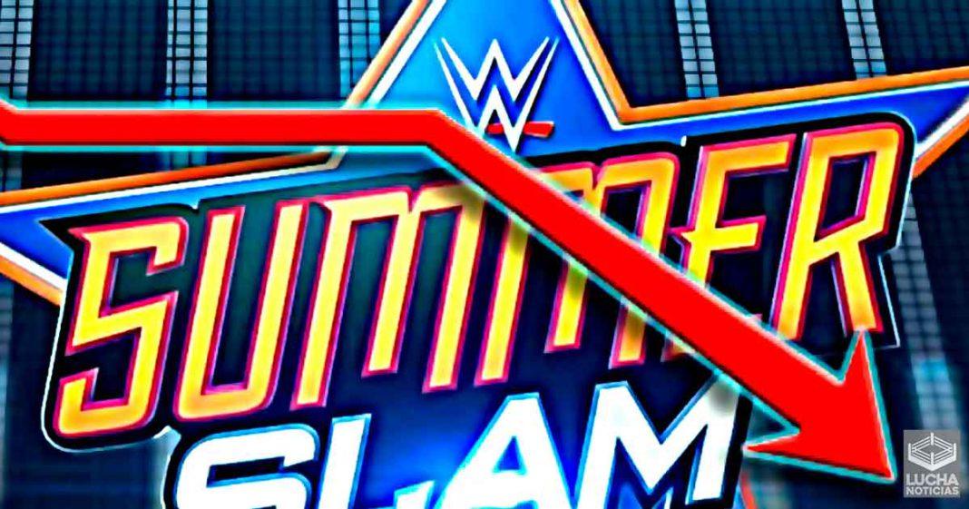 WWE SummerSlam no captó mucho interes de los aficionados