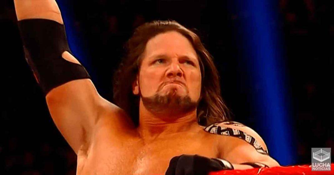 AJ Styles habla de como limita sus movimientos en WWE