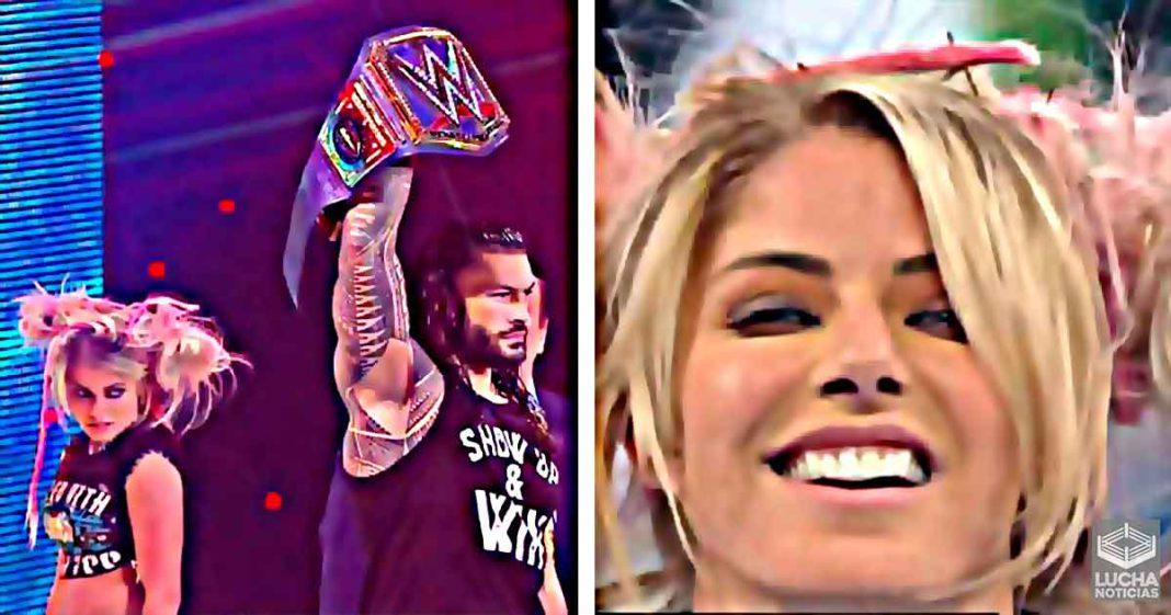 Alexa Bliss reacciona al segmento de SmackDown después de que el episodio sale del aire