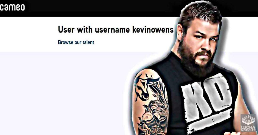 Kevin Owens elimina su cuenta de CAMEO