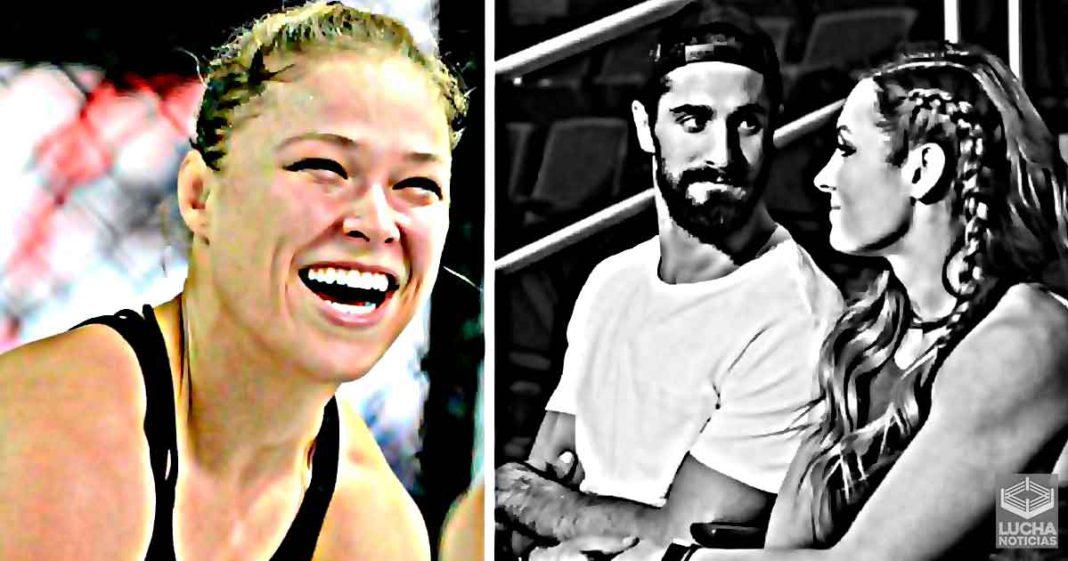 Ronda Rousey insinua a Seth Rollins y Becky Lynch