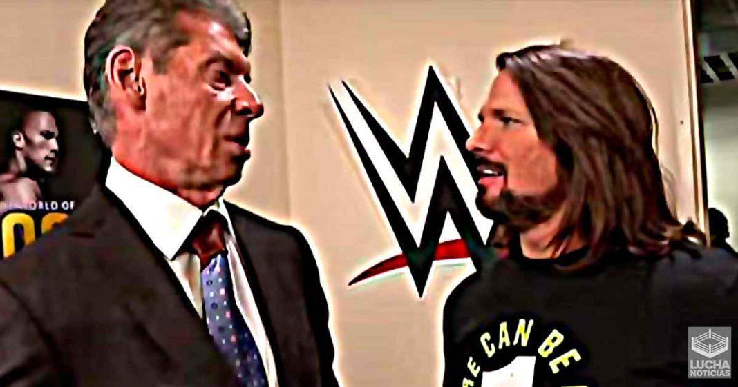 AJ Styles y otras superestrellas se reunen con Vince McMahon por el baneo de Twitch