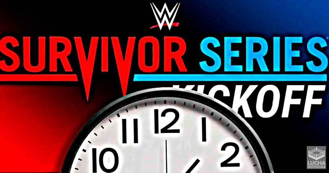 WWE planea un KickOff más largo para Survivor Series