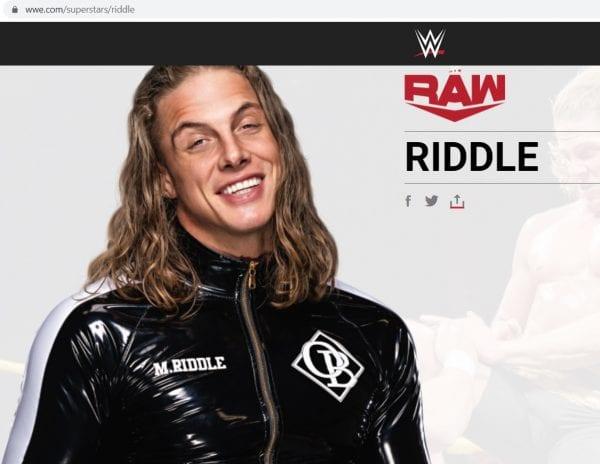 WWE le cambia el nombre a Matt Riddle   Lucha Noticias