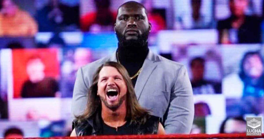 Razón por la cual WWE le dio el nombre de Omos al guardaespaldas de AJ Styles