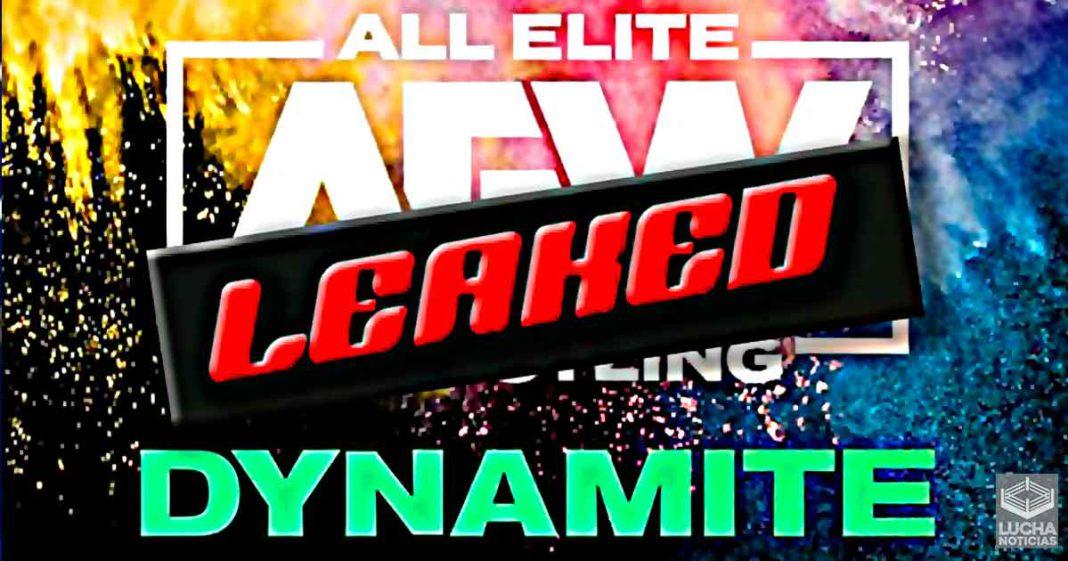 Se filtra gran spoiler para la próxima semana en AEW Dynamite