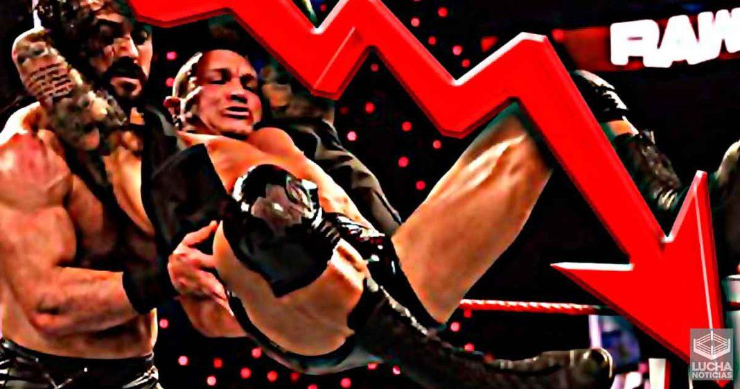 WWE RAW obtiene su rating más bajo de la historia el pasado lunes