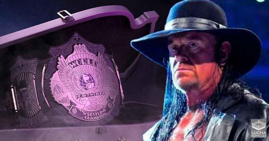 WWE vende edición especial de campeonato de Undertaker a $1000