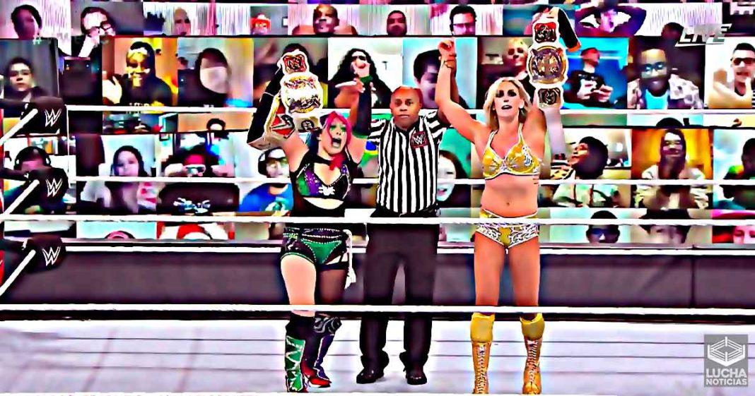Charlotte Flair y Asuka son las nuevas Campeonas Femeniles de Pareja WWE