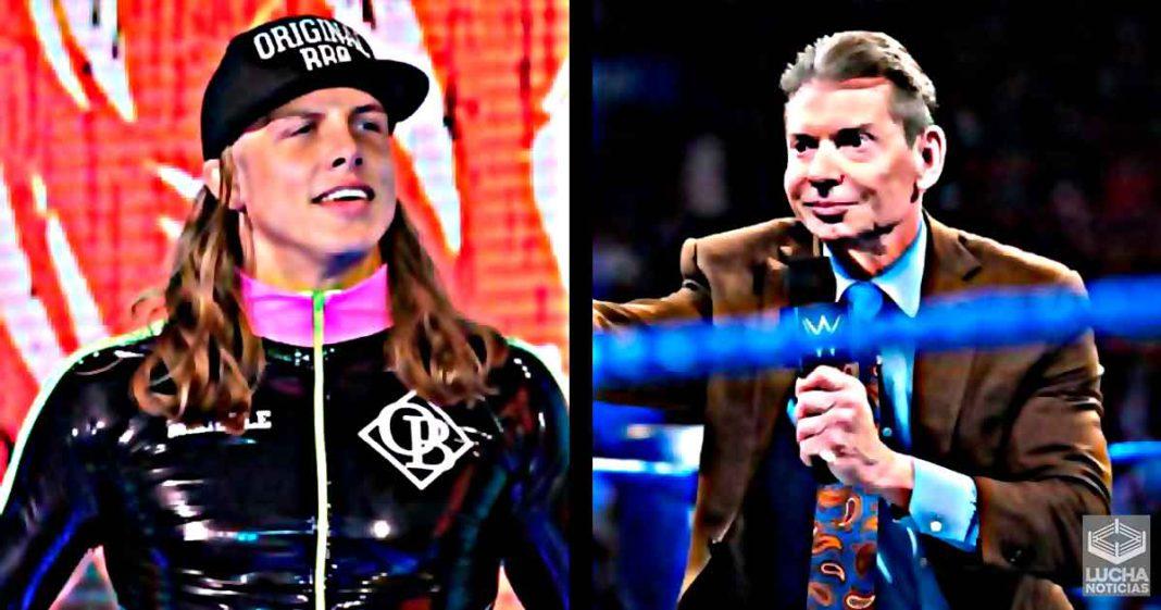 Vince McMahon realmente adora a Matt Riddle
