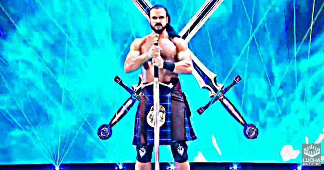 Ex escritor de WWE furioso con Drew McIntyre por salir con una espada