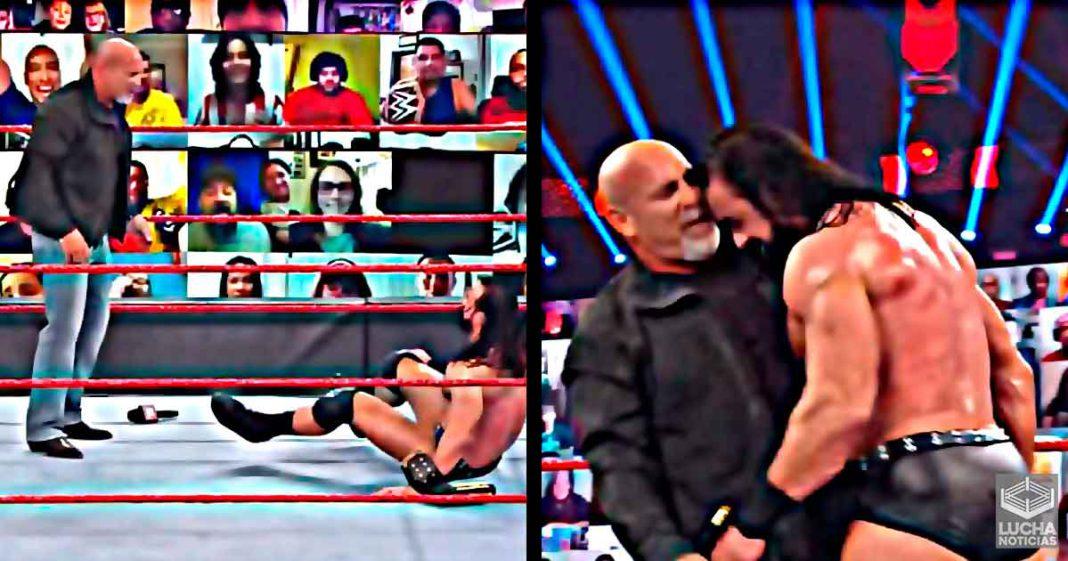 Gran error en el segmento de RAW entre Goldberg y Drew McIntyre