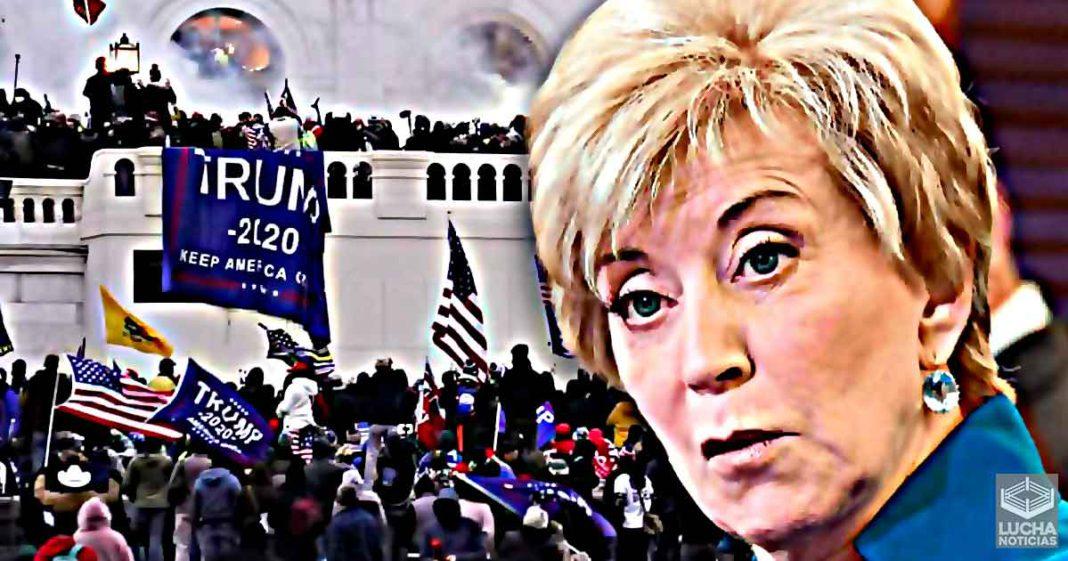 La organización de Linda McMahon está relacionada con los disturbios en el capitolio