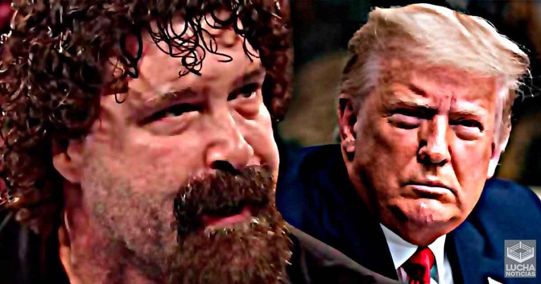 Mick Foley reaccion a la suspensión permanente de la cuenta de Donald Trump en Twitter