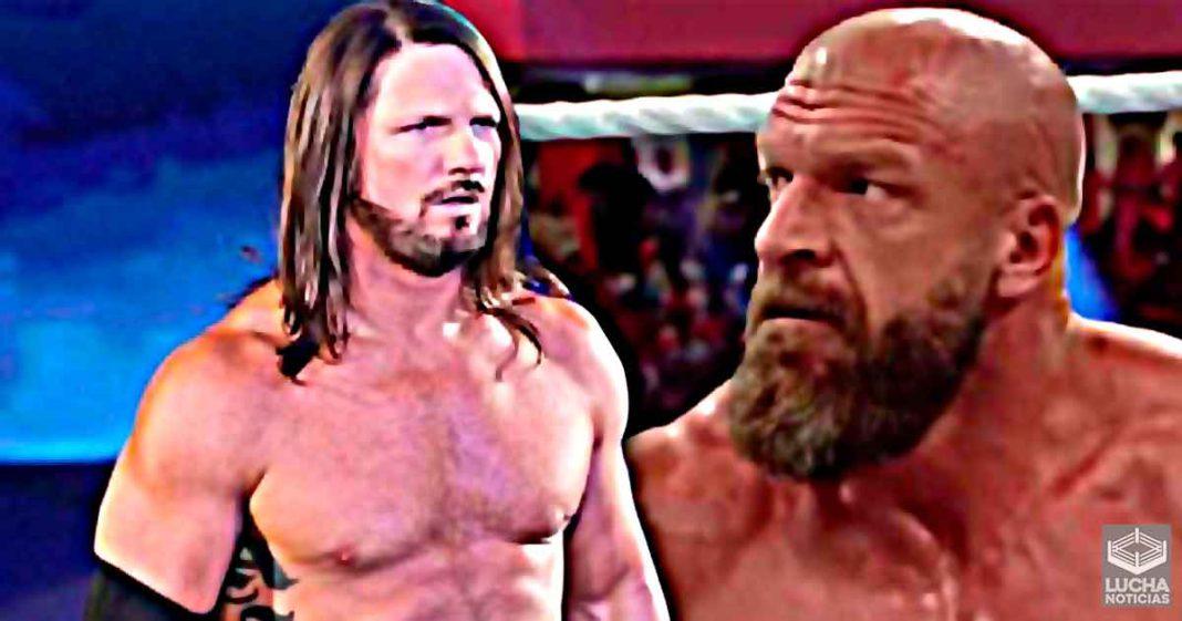 Triple H le dijo a AJ Styles que vaya más despacio en su primera carrera en WWE