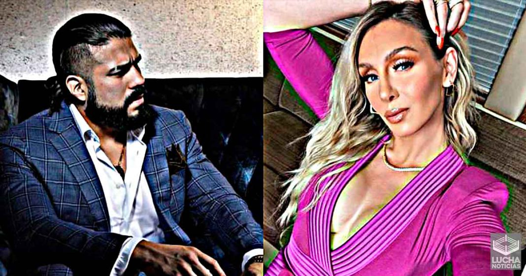 Andrade reacts to those who say Charlotte Flair looks like a man