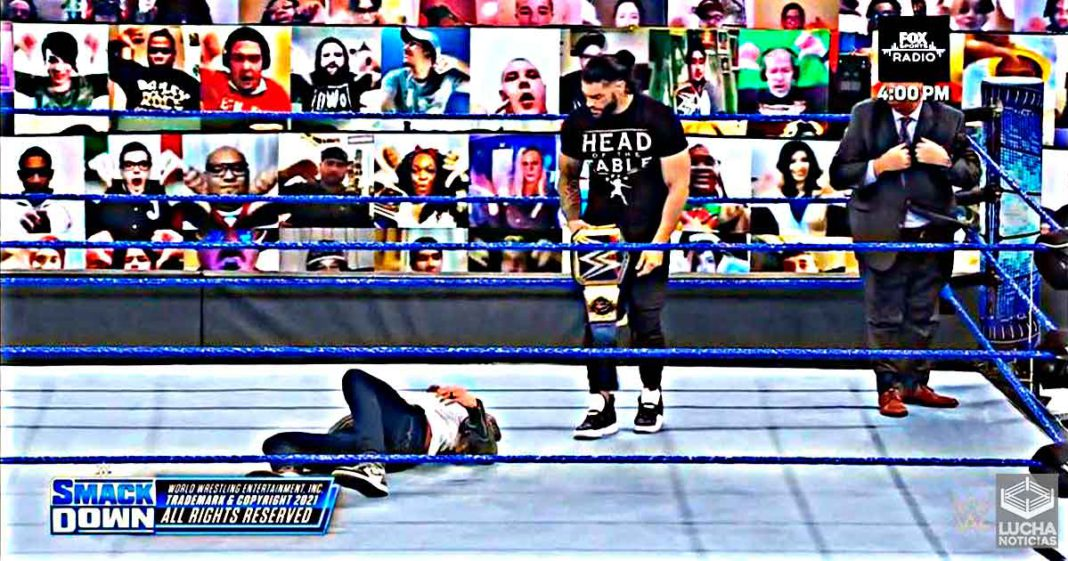 Roman Reigns attacks Edge with Spear on WWE SmackDown