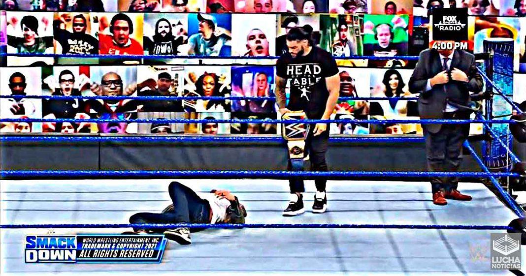 Roman Reigns attaque Edge avec Spear sur WWE SmackDown