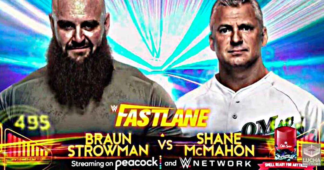 Braun Strowman vs Shane McMahon en WWE Fastlane 2021