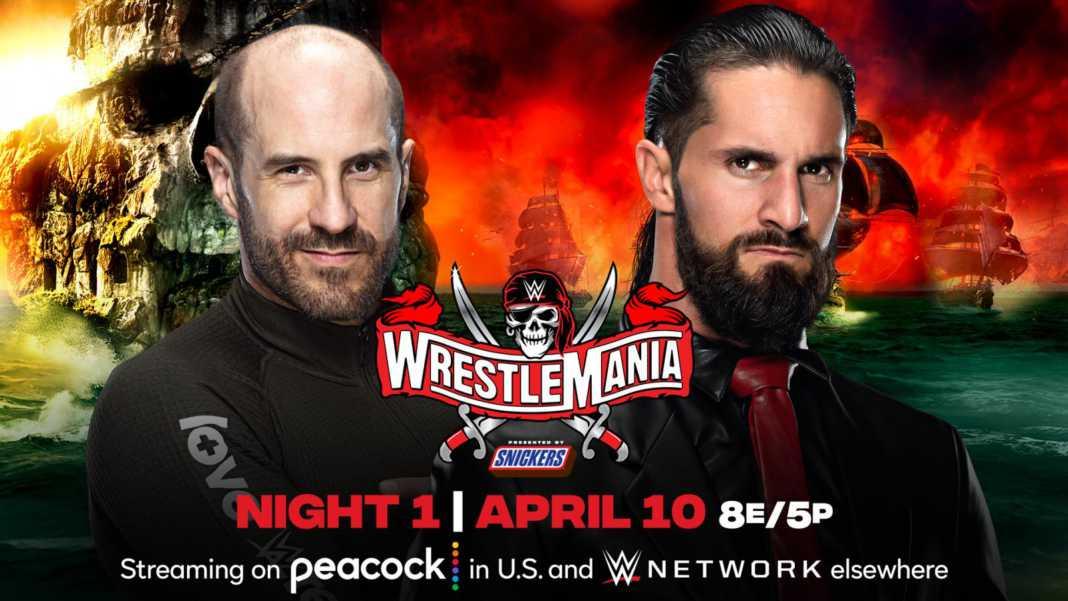 Cesaro vs. Seth Rollins en WrestleMania 37
