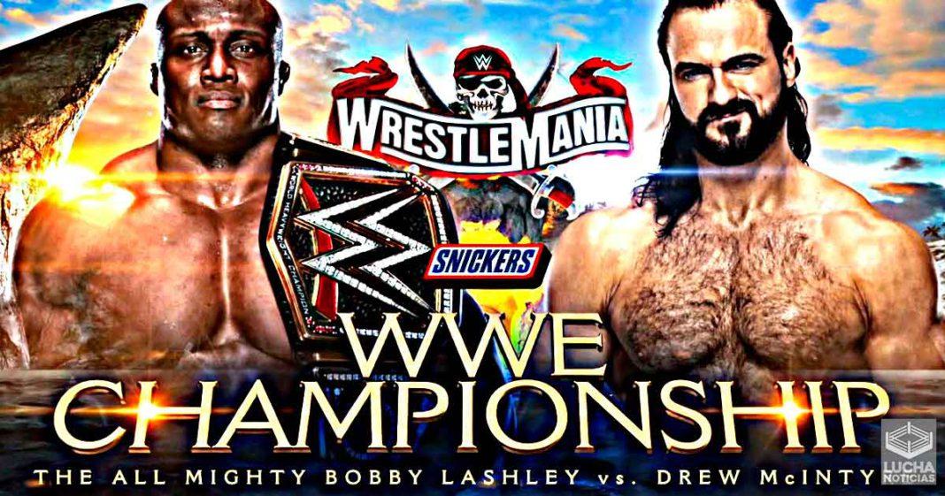 Drew McIntyre vs Bobby Lashley por el campeonato de la WWE en WrestleMania 37
