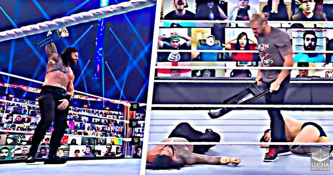 Roman Reigns retiene el campeonato Universal - Edge ataca a Bryan y Roman