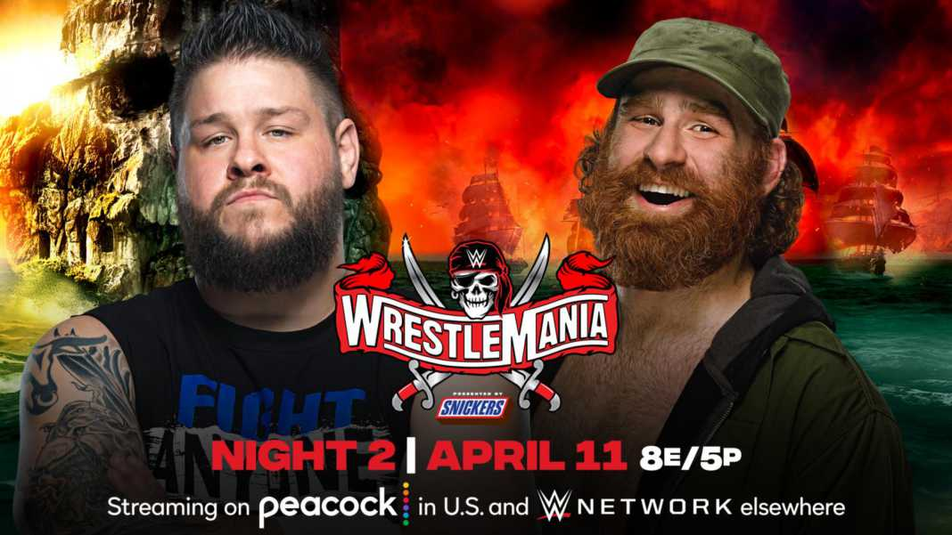 Sami Zyan vs. Kevin Owens en WrestleMania 37
