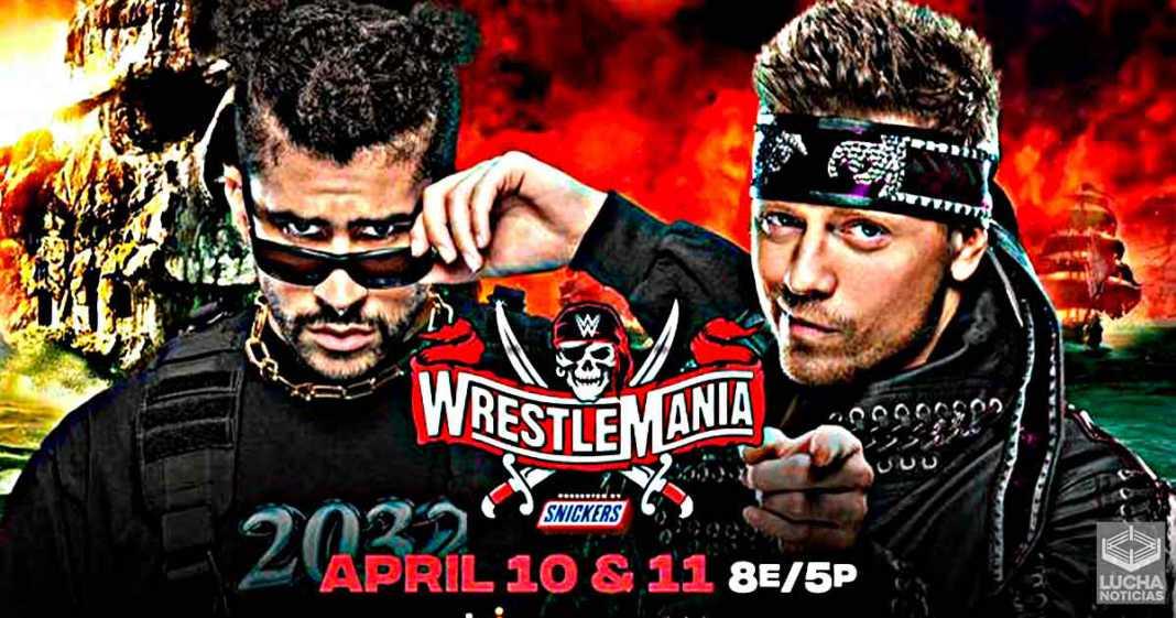 The Miz vs Bad Bunny en WWE WrestleMania 37
