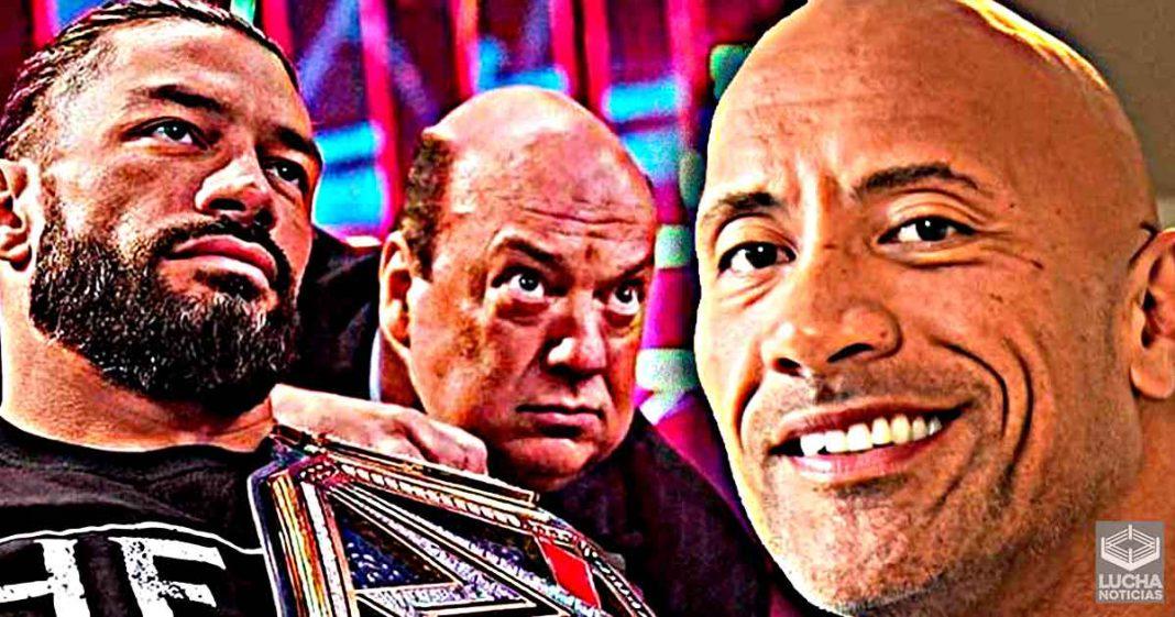The Rock en contacto con Paul Heyman para luchar con Roman Reigns en WrestleMania