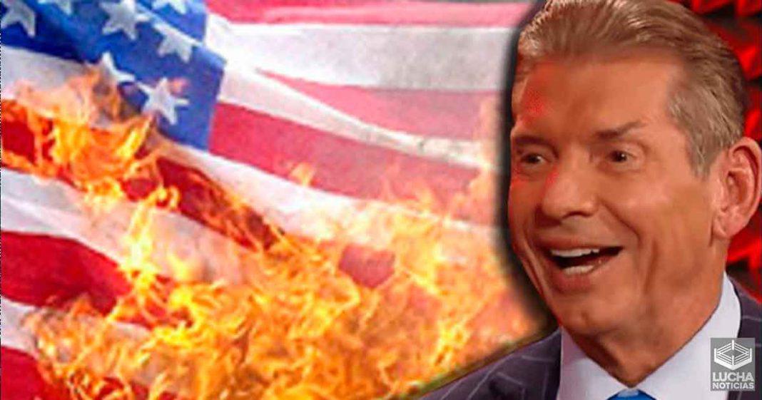 WWE planeó quemar una bandera de Estados Unidos en PPV