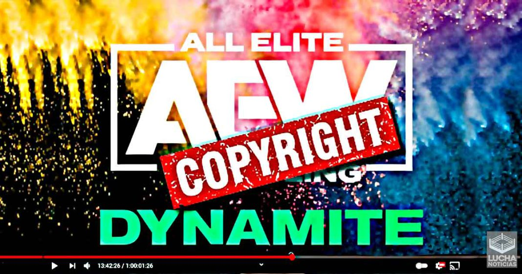 AEW mete strikes a varios canales de YouTube por usar su material