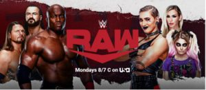 Banner WWE RAW abril 2021
