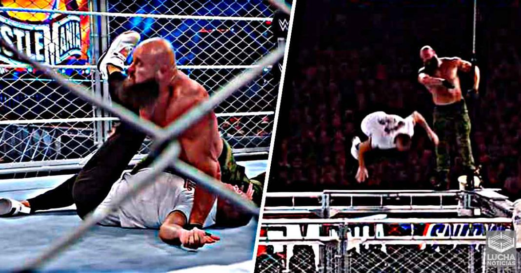 Braun Strowman vence a Shane McMahon en la jaula de WrestleMania